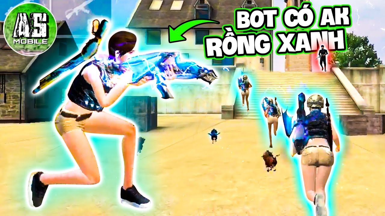 [Free Fire] Giả Làm Bot Cầm Skin Rồng Xanh Troll Game !! | AS Mobile