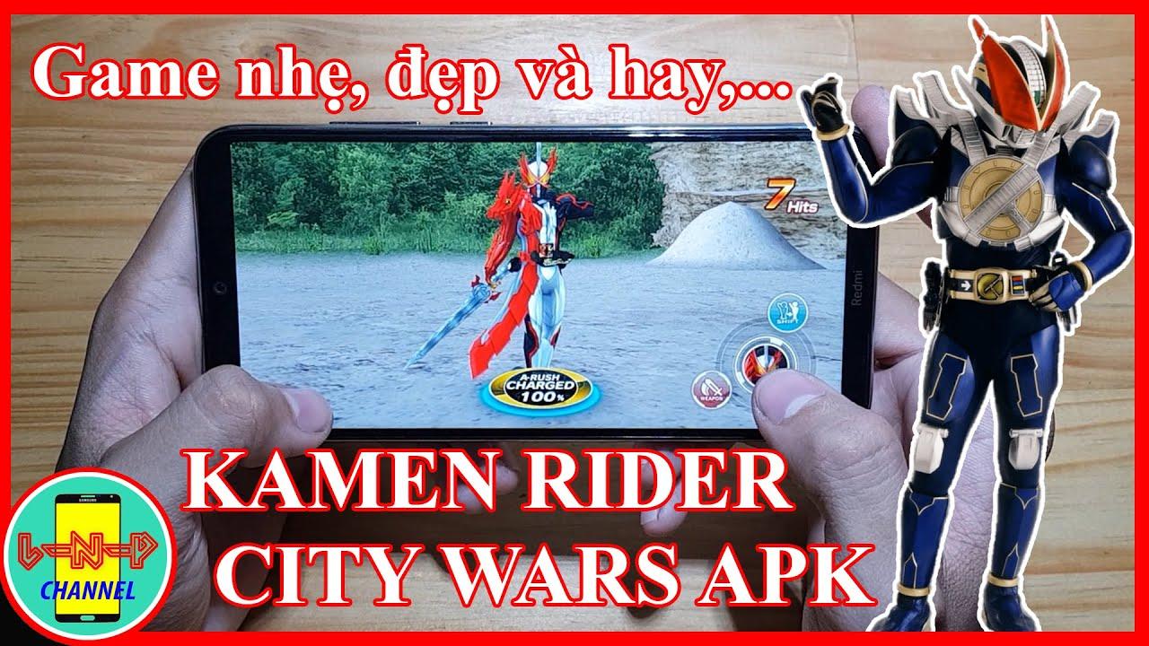 Hướng dẫn tải Kamen Rider City Wars trên điện thoại | Game siêu nhẹ, đẹp và hay